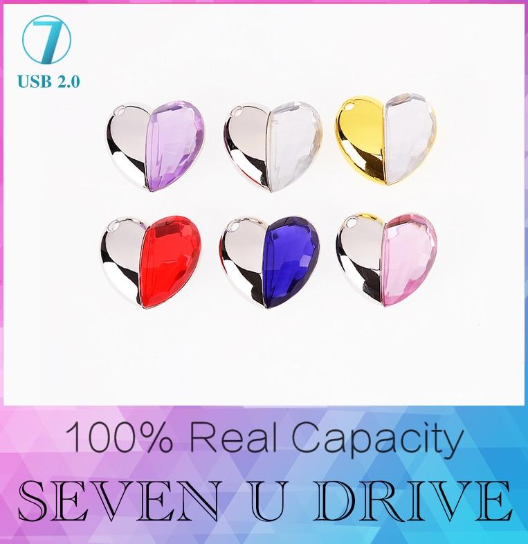 c8d97b5c3012 YUFANYF Hot Sale Heart USB Flash Drive Flash Disk 128GB Gift Diamond Crystal  Pen Drive 4GB 8GB 16GB 32GB 64GB pendrive SWAROVSKI-in USB Flash Drives  from ...
