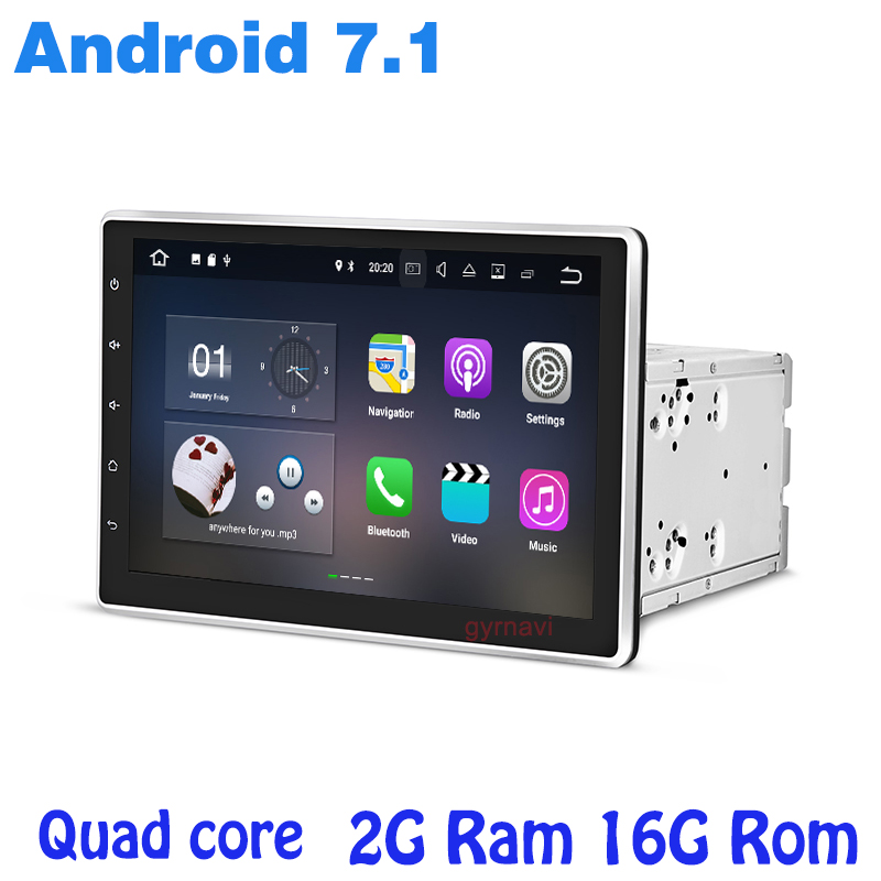10.1 inch 2 DIN Android 7.1 Universal Car DVD Player GPS Stereo Auto Radio Audio Head Unit 2G RAM Quad Core car pc table