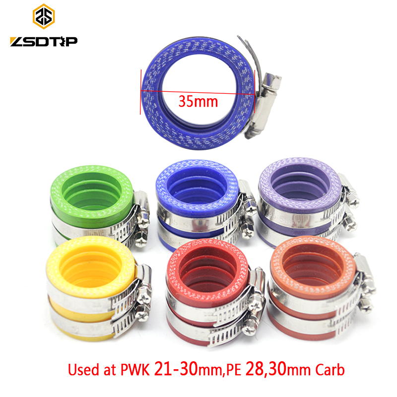 ZSDTRP 35mm Motorcycle Replacement Parts Manifold Intake Carburetor Rubber Adapter Connector Modified Manifold Adapter For Motor