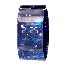 Sport Watch Men Watches LED New Creative Paper Clock Male Pa