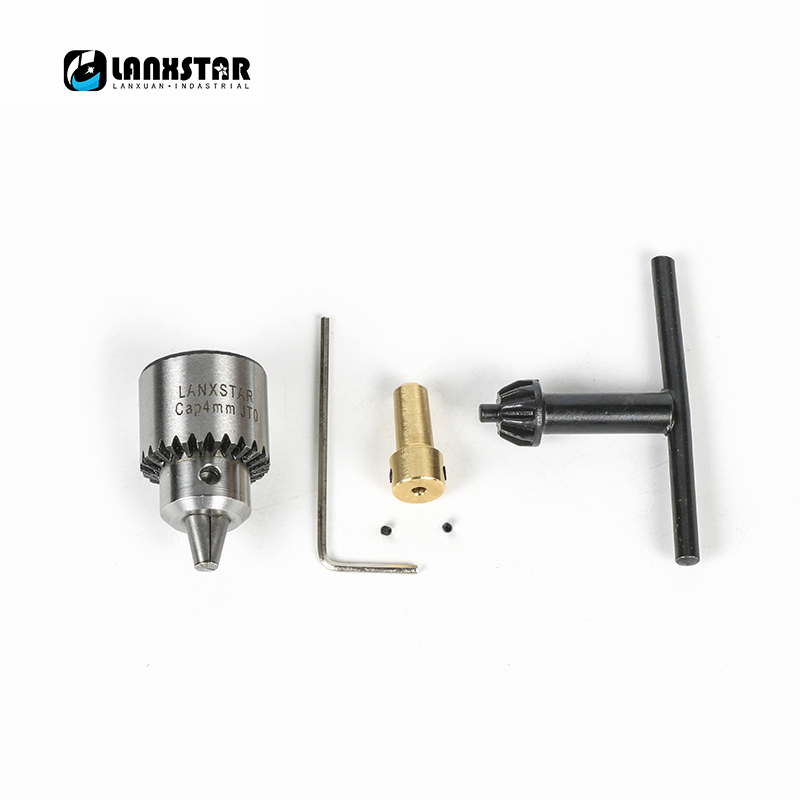 Brand LANXSTAR For 2.3mm Motor Shaft Mini Electric Drill Chuck 0.3-4mm JT0 Taper Mounted Lathe Chucks PCB Drill Press Chucks mini drill chuck 0 3 4mm jto taper mounted key lathe chuck pcb mini drill press applicable to motor shaft connecting rod 8 mm