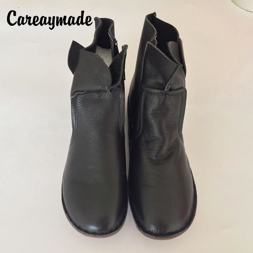 Careaymade-The autumn winter boots pure handmade top layer genuine leather boots Retro Leather shoes Sen girls style ankle boots стоимость