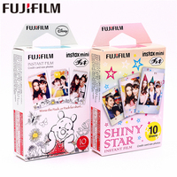 Fujifilm 20 листов Instax Мини Винни Пух + блестящая Звезда мгновенная пленка фотобумага для камеры Instax Mini 8 7 s 25 50 s 90 9 SP-1 SP-2