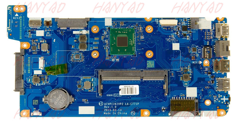 AIVP1AIVP2 LA C771P FOR Lenovo 100 14IBY Laptop Motherboard 5B20J30732 SR1YW N3540 CPU DDR3L 100 Tested Fast Ship in Laptop Motherboard from Computer Office