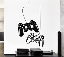 Joystick Wall Sticker Gamer Video Game Play Vinyl Art Mural Home Decoration Wall Sticker VInyl Home Decor Wall Decal Y-209