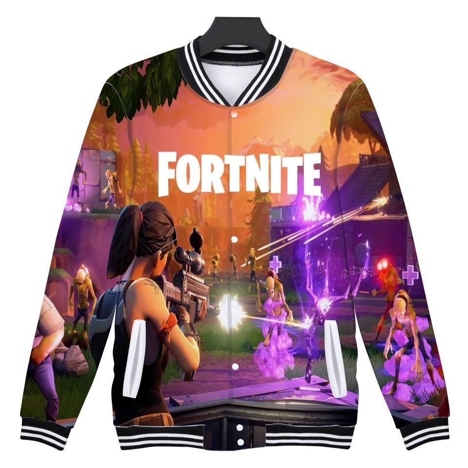 Fortnite 3D Baseball Jacket Men Women Fashion 3D Hoodies Sweatshirt Pop Funny FPS Games Tracksuit Men Hoodie Jacket XXS-4XL Tops