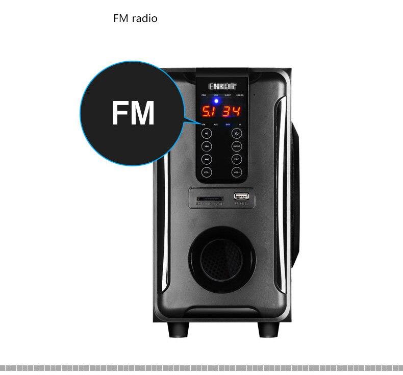 Système de haut-parleurs Home cinéma 5.1 canaux, Bluetooth \ USB \ SD \ FM Radio télécommande écran tactile, Dolby Pro logique son Surround - 6