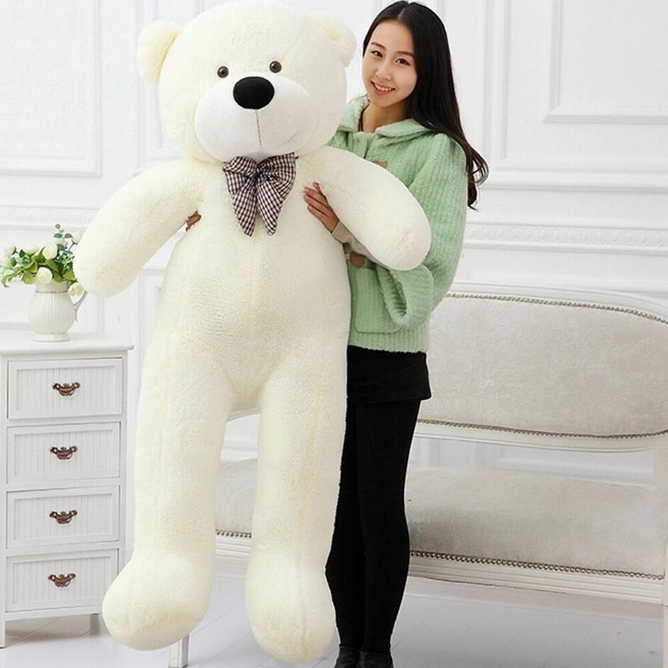 47''Giant Big Huge Teddy Bear White Plush Stuffed Toys Soft kukull - Lodra prej pelushi - Foto 3