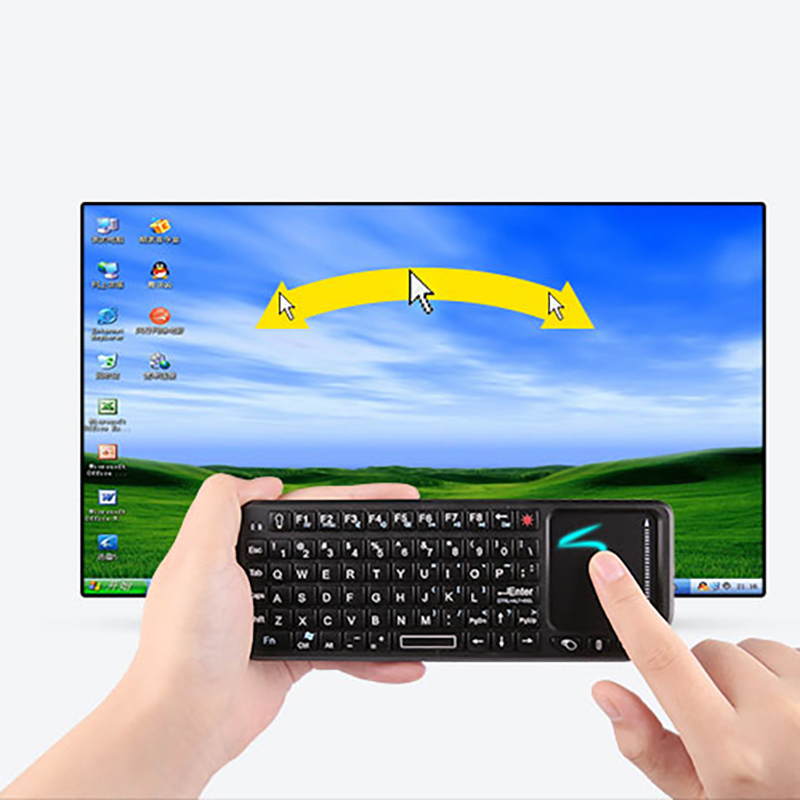 Image 2 - 2.4G Wireless Keyboard Air Fly Mouse Original Mini Handheld Touchpad Keyboard for Smart TV for Samsung LG Android tv PC LaptopKeyboards   - AliExpress