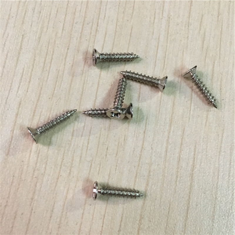 White/Silver Color Self-tapping Screws,Flat Head Screws,Cross Screw,Matching Nails,M2*6/M2*8/M2*10/M2.5*12/M3*14,500Pcs