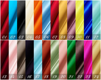19 momme Pure Charmeuse Satin fabric 100% silk for blouse dress Bedclothes Many Uses / (Width 114cm / Weight 81gsm) / 48 colors