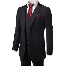 Classic Style Groom Tuxedos Groomsmen Men's Wedding Prom Suits Bridegroom (Jacket+Pants+Vest)three-piece