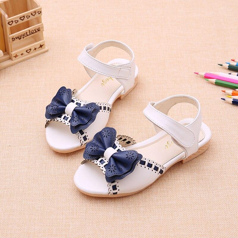 Sweet Big Bow Princess Shoes 2018 New Summer Children Shoe Candy Soft Bottom Princess Girl Fish Head Sandals Kids