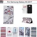 Case para samsung galaxy a5 2017 a520 a520f suave soporte monedero cubierta del tirón del cuero case para samsung galaxy a5 2017 phone case