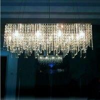 2014 Modern Minimalist Fashion Creative Rectangular Crystal Chandeliers 31w 40w Stainless Steel Chandelier