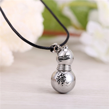 H&F 2016 new fashion hot anime Naruto Gaara Gourd antique silver plated pendant Necklace nice gift cospalt accessories