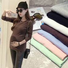 Afei Tony Maternity T-shirt Maternity Clothing Solid Color O-Neck T-shirt Pregnant Clothes Cotton Pregnancy Women Summer Tops(China)