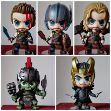 The Avengers Infinity War Thor Loki Hulk Mini PVC Action Figures Toys Collection Car toys