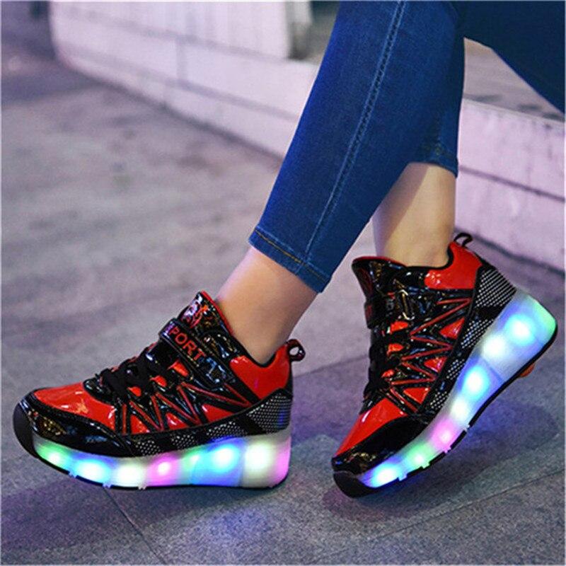 3-18 Ans chaussures led Enfants 2019 Printemps Lumineux Sneakers Pour Enfants Lumière Garçons Chaussures De Filles