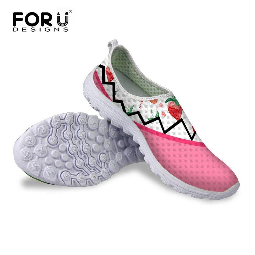 f2103d0525 FORUDESIGNS Mulheres Da Moda Sapatos Casuais Respirável, luz Malha Sapatos, Mulher  Sapatos Baixos Outono Verão Slip-On Sapatos de Caminhada Feminino