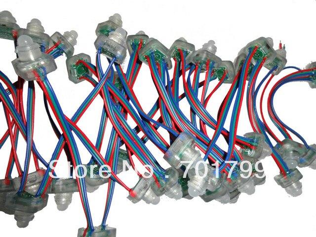 50ชิ้นDC5V TLS3001นำโหนดพิกเซลIP68จัดอันดับ; RGBลวด,ตารางประเภท; 4096ระดับสีเทา;อีพอกซีเรซินที่เต็มไปด้วย