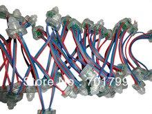 50 יחידות LED פיקסל צומת DC5V TLS3001, מדורג IP68, חוט RGB, סוג מרובע; 4096 סולם אפור; מלא שרף אפוקסי