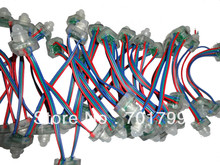 50pcs DC5V TLS3001 LED pixel node,IP68 rated;RGB wire,square type;4096 gray scale;epoxy resin filled