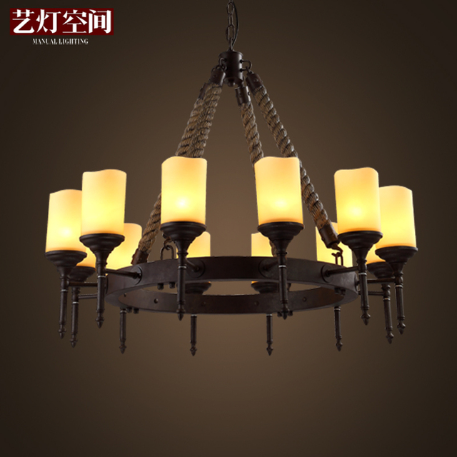 Arts Lamp Space Industry American Country Style Retro Chandelier Living Room Restaurant Bar German Castle