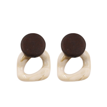Vintage Acrylic Earrings for Women Acetate Resin Earring Handmade Wooden Fashion Jewelry 2019 Pendientes Acrilico