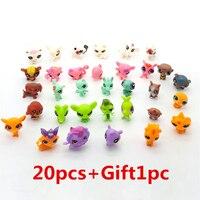 SAINTGI pequeño Pet Shop LPS Regalo 1 unid estilo al azar juguetes gato de dibujos animados película figuras de acción Mini PVC 4- 6 cm colección niños bolso del OPP