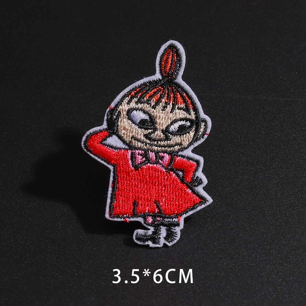 하마 말 패치 의류에 대 한 만화 마술 마녀 작은 소녀 자 수 패치 DIY 아기 드레스 가방에 대 한 봉 제 Applique