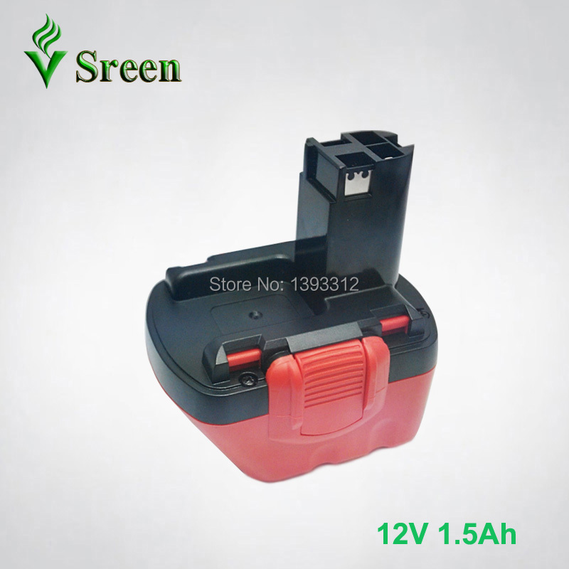 New 12V Ni-Cd 1500mAh Rechargeable Power Tool Battery Replacement for Bosch Cordless Drill Battery 2 607 335 273 2 607 335 375 new 24v ni mh 3 0ah replacement rechargeable power tool battery for bosch bat299 bat240 2 607 335 637 bat030 bat031 gkg24v
