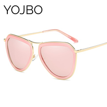 YOJBO Cat Eye Polarized Sunglasses Women Brand Designer 2017 High Quality Luxury Sun Glasses Mirror Vintage Shades with Case
