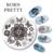 10 Unids NACIDO PRETTY Nail Placas de Estampado Animal Lindo Diseño de La Flor Nail Art Sello placa de la Imagen Plantilla Manicura Decoración BP101-110