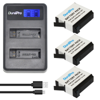 3pcs 1500mAh AHDBT 401 AHDBT 401 Gopro Hero 4 Rechargeable Battery LCD Dual Charger For Gopro