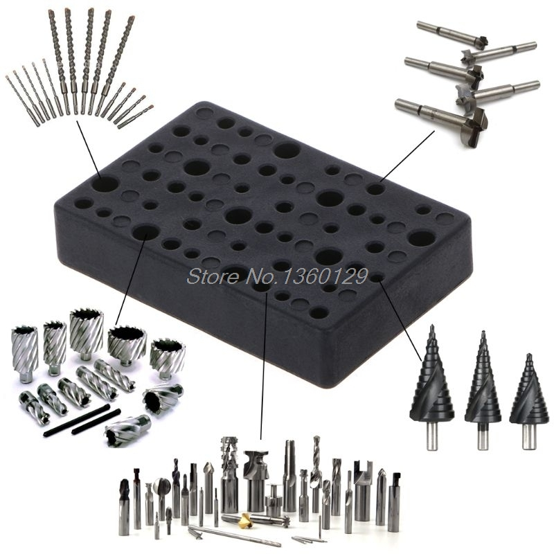 Electric 45 Holes Drill Bit Storage Block Box Case For Dremel Rotary Tool Accessories 72x48x14mm Wholesale&DropShip