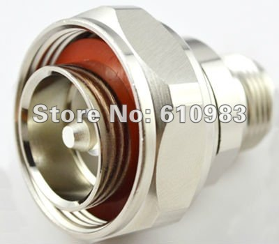 L29 to N adapter 7/16 Din Plug male to N Jack female adapter straight connector adapter sma plug male to 2 sma jack female t type rf connector triple 1m2f brass gold plating vc657 p0 5