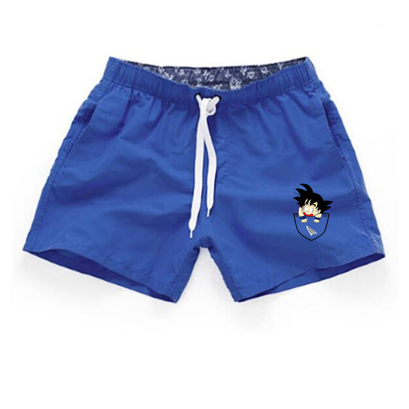 Dragon Ball Men's Shorts Summer Dragon Ball Z Super Son Goku Slim Fit Cosplay 3D Beach Men's ShortsCasual Shorts