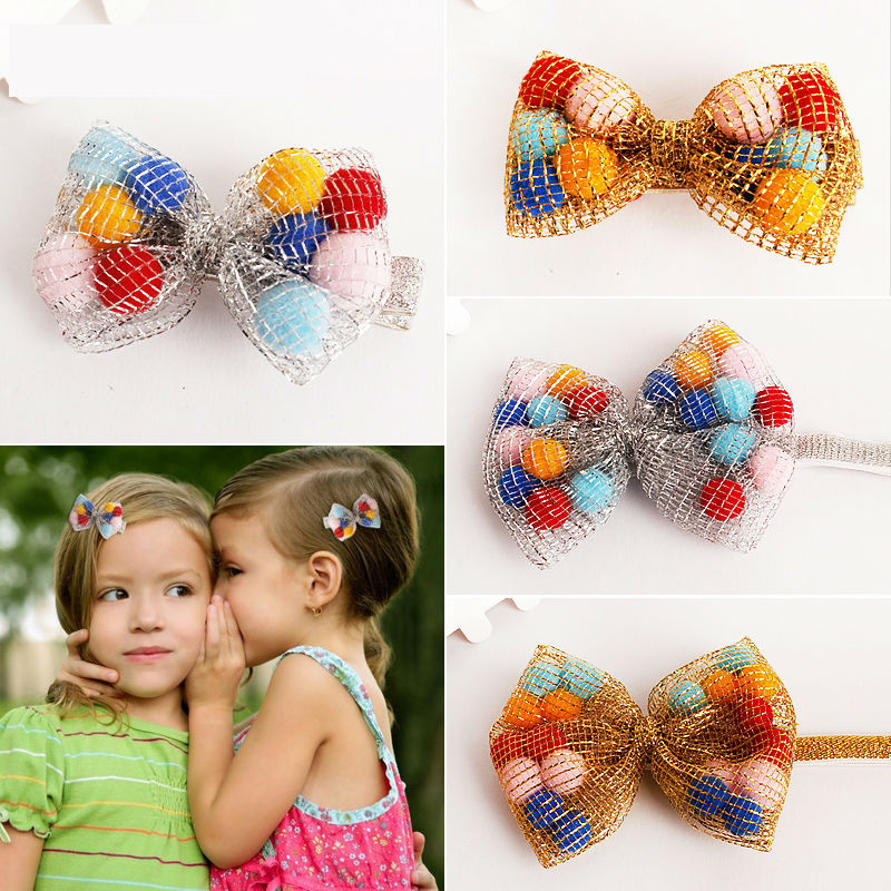 #MD60112 Baby Girls Kids Lovely Gold/Sliver Hair Bands Vintage Flowers Hair Bows Accessories Pretty Headbands Infant Headbands