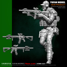 цена на Yufan Model 1/24 Soldier Model Kit 75mm Us Seals Resin Soldier Platinum  Unmounted Yfww-1837