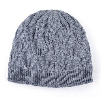 2018 Winter beanies knitted hat mens skullies triple layer fabrics warm casual cap bonnet plus velvet hants for men beanie 2