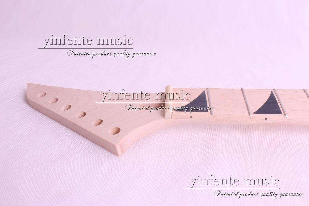 24 fret high quality Unfinished electric guitar neck maple made maple fingerboar new electric guitar neck maple 24 fret 25 5 truss rod unfinished no frets nice