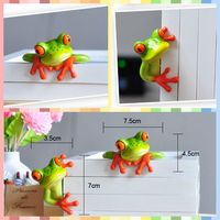 Free Shipping Funny Frog Figures Resin Toy 2 Styles Vivid Cute Pet Cake Home Office Desk