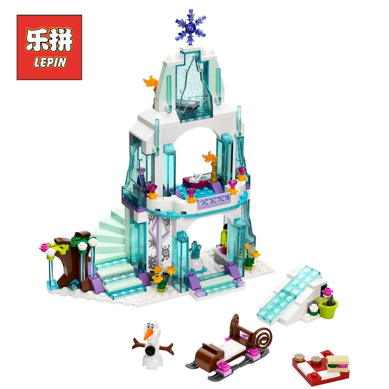 LEPIN 25005 Friend Girl Series Castle Princess  Doll House Elsa DIY Set Model Building Kits Blocks Bricks Children Toys Hobbies lepin 01018 girl series enchanted castle princess diy set doll house model building kits blocks bricks children toys christmas