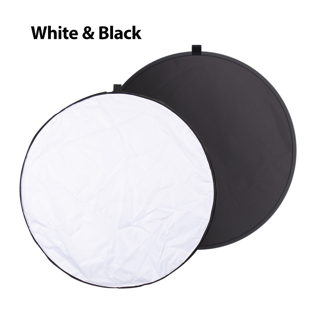lowest price Yizhestudio 24inch 60cm 5 in 1 Reflector Collapsible light round Multi Photography Studio Flash Diffuers Gold Silver White Black