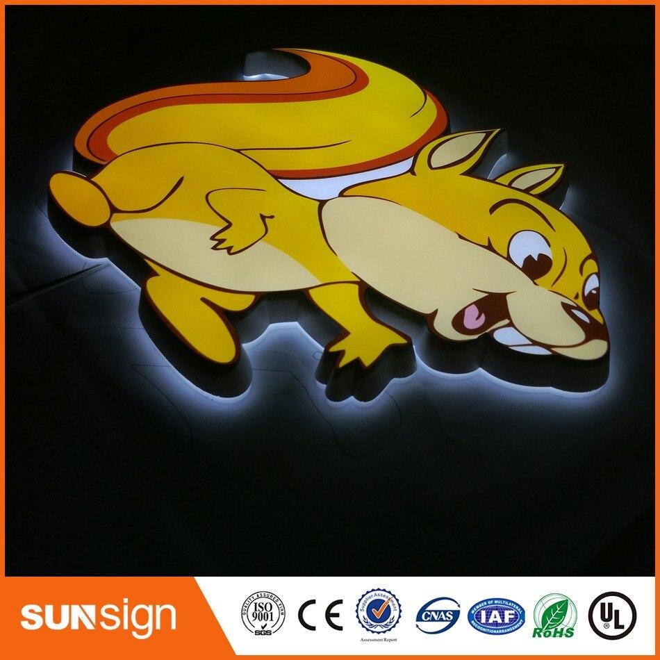 Custom Acrylic LED Letters Signage Illuminated Outdoor Sign Letters