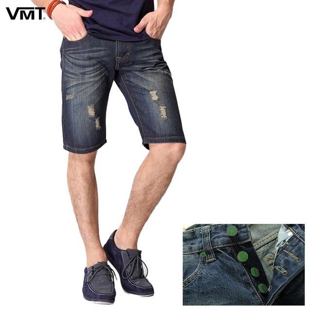 2018 Для мужчин Шорты джинсы Для мужчин, Fly короткие джинсовые Для Мужчин's Джинсовые шорты джинсы тонкие узкие S6CS026