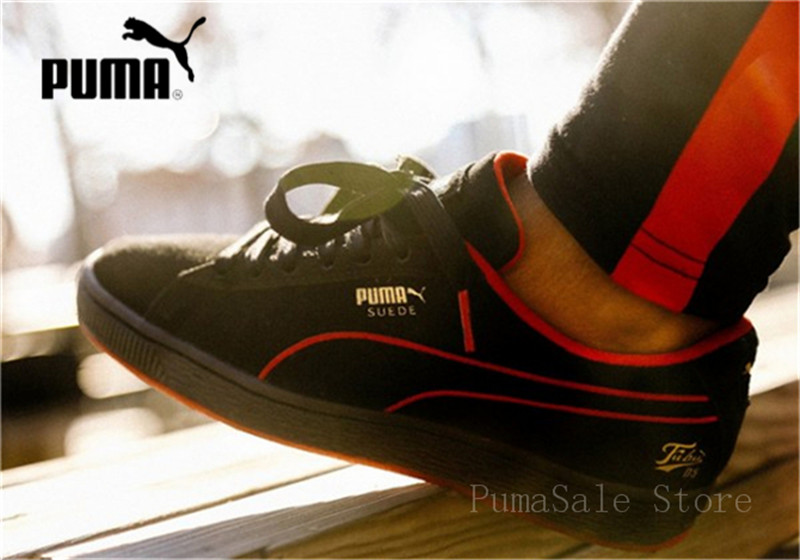 quality design 016e0 1fbf4 US $52.0 17% OFF|PUMA X FUBU 05 Suede Classic Mens Black Women Sports  Sneakers Men 50th Anniversary Edition 366320 02 Lace Up Badminton Shoes-in  ...