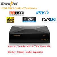 Récepteur Satellite numérique haut de gamme 1080 P DVB-S2 H.265 Support récepteur Wifi CCcam M3U traqueur européen espagne français USA UK IPTV