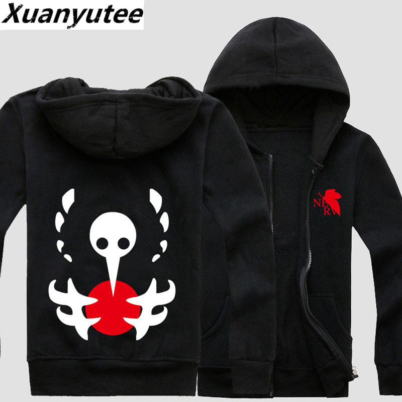 Xuanyutee EVA Anime Fans Lover Zipper Up Sweat Homme Fleece Cotton Cosplay Pullover Hoodies Men Full Sleeve EU Size Casual Hoody